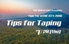 【7/28】Tips for UTMF/STY 2016 Taping